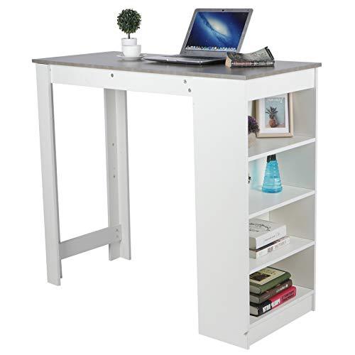 AYNEFY Escritorio para ordenador, mesa de oficina, mesa estable para ordenador, mesa de pie, mesa de desayuno, mesa de comedor, para cocina, salón, muebles del hogar