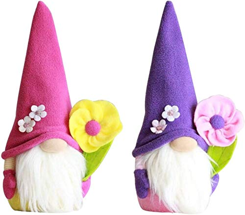 Wythe Frühlingswichtel, Plüsch Wichtel mit Sonnenblume, Gesichtslose Puppe Plüschtier, Frühlingsdeko für Wohnzimmer Schlafzimmer, Muttertagsgeschenk, Gesichtslose Puppe (#3 2stk)