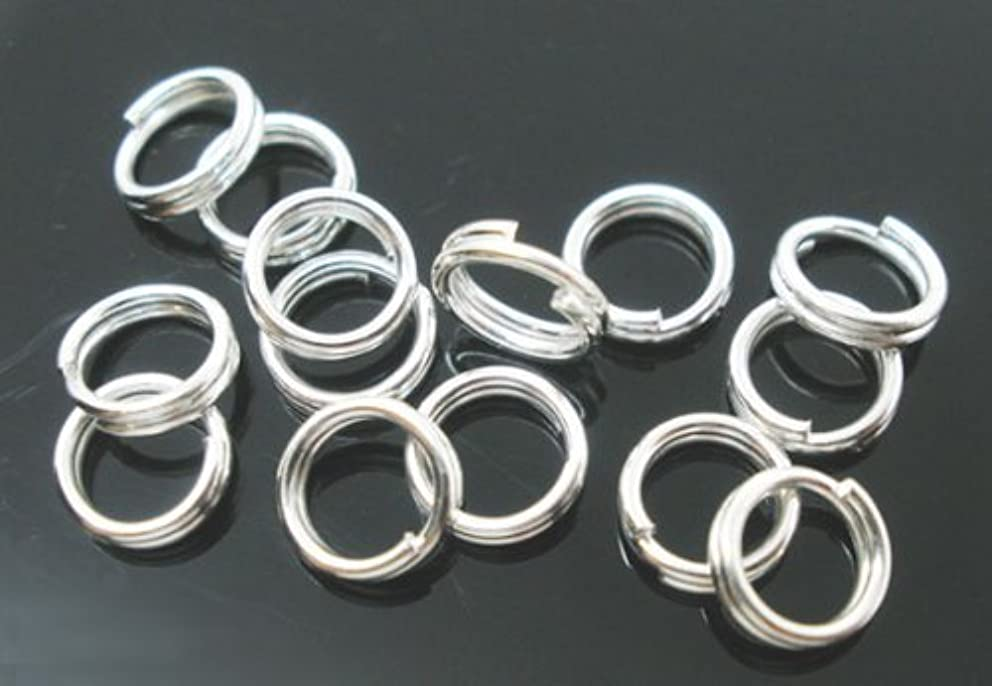 PEPPERLONELY Brand 1000PC Silver Plated Split Rings 5mm