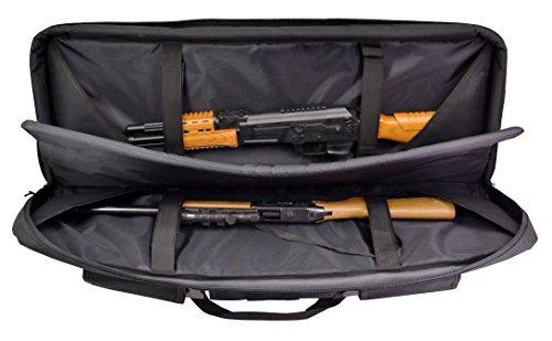 explorer gun cases Explorer Hard Shell Heavy Duty Double Rifle Case Range Bag, Black, 38 x 10 x 5-Inch