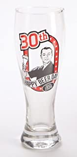 Retro Pilsner Birthday Age Beer Glass 18th 21st 30 40 50 Man Gift (Age 30)