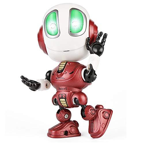 Etmury Robot de Juguete, Interactivo con Repite tu Voz, Luces parpadeantes de Colores, Sensación de la Cabeza, Regalo Genial para niños pequeños de 3-12 años