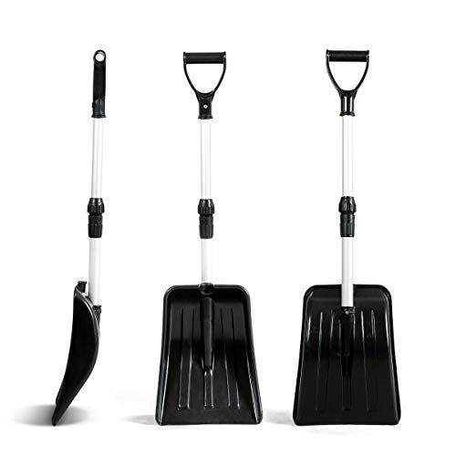 Purchase simplyUSAhello Adjustable Aluminum Snow Shovel for Car Emergency Non-Slip Handle