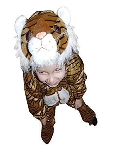 Seruna Tiger-Kostüm, F14, Gr. 128-134, für Kinder, Tiger-Kostüme für Fasching Karneval Fasnacht, Kleinkinder-Karnevalskostüme, Kinder-Faschingskostüme,Geburtstags-Geschenk Weihnachts-Geschenk
