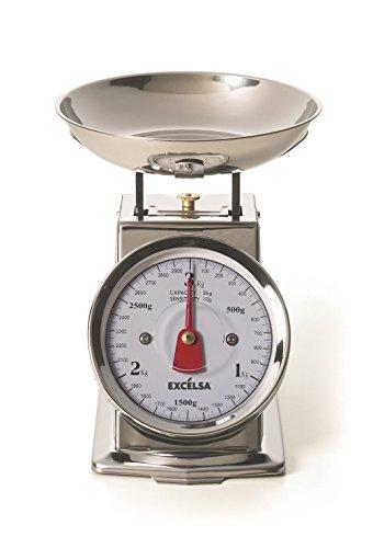 Excèlsa Vintage zilveren keukenweegschaal, 3 kg/10 g
