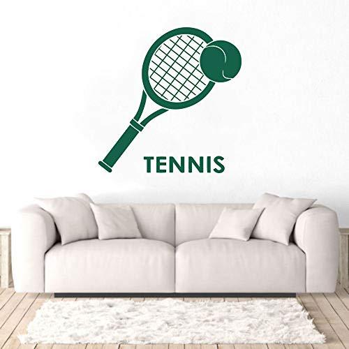 JXLLCD Tennis und Schläger Logo Wandaufkleber Aufkleber Tennis Sport Aufkleber Home Schlafzimmer Art Deco 57x44 cm