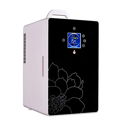 Find Discount 16L Digital Display Dual-Core Mini Car Refrigerator Car Home Dual-Use Portable Hot and...