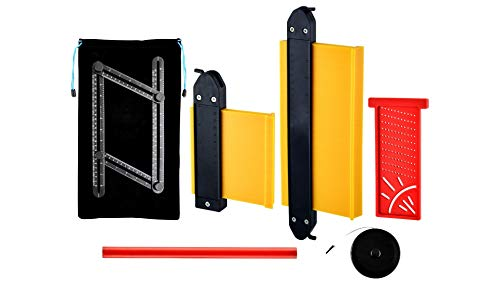 Royal Sapper Contour Gauge with Lock 7pc Tool Set. Contour Gauge Duplicator. Locking Profile Guage for Shape Duplication. Outline Profile Gauge Tools (Yellow)