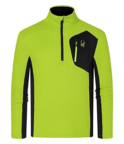 Spyder Active Sports Herren Bandit Half Zip Fleece Jacke, Mojito, XXL