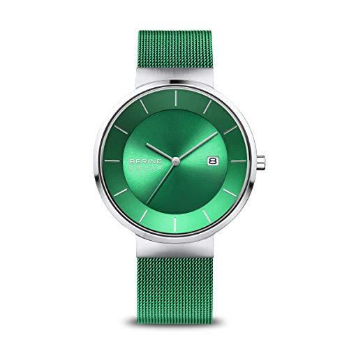 BERING Herren Analog Solar Collection Armbanduhr mit Edelstahl Armband und Saphirglas 14639-Charity