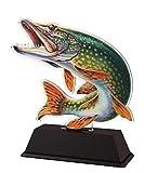 Trophy Monster Modern - Plato de Pesca con Grabado de Premio, diseño de trofeos a Granel, para Clubes y Ligas, Adultos o niños, Hecho de acrílico Impreso (3 tamaños), Multicolor, 100 mm