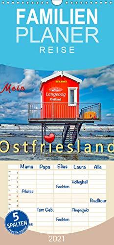 Mein Ostfriesland - Familienplaner hoch (Wandkalender 2021, 21 cm x 45 cm, hoch)