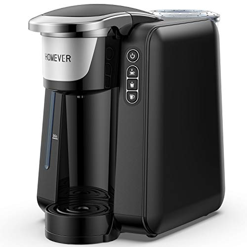 HOMEVER 12-15 Cup Touch Screen Programmable Automatic Timing Coffee Maker, 1050W Warm Keep & Fast Brewer, Self Cleaning with Permanent Filter, 60 oz Capacity, 2.0L Glass Carafe. Black Silver