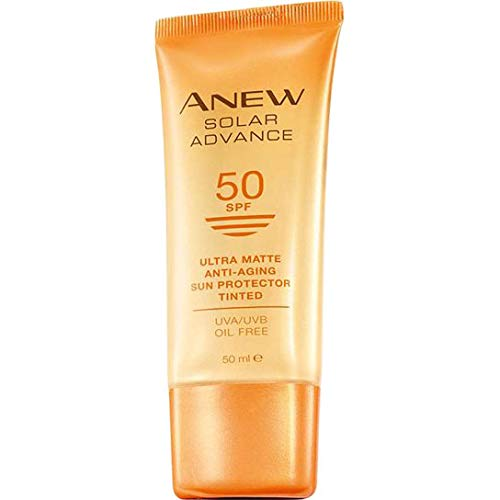 Avon Solar Advance ultra matte leicht getönte Anti-Aging Sonnencreme LSF 50