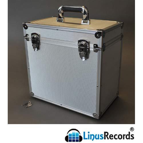 LinusRecords - 30,5 cm (12 inch) Flight Case aluminium koffer voor 50 platen LP 33 omwentelingen (zilver)