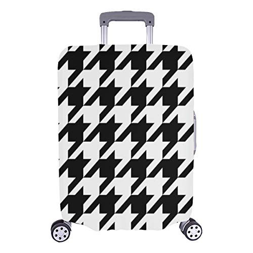 Large Suitcase Protector Black White Hounds Tooth Durable Washable Protecor Cover Fits 28.5 X 20.5 Inch Luggage Protection Covers Cover Travel Luggage Boys Luggage Cover