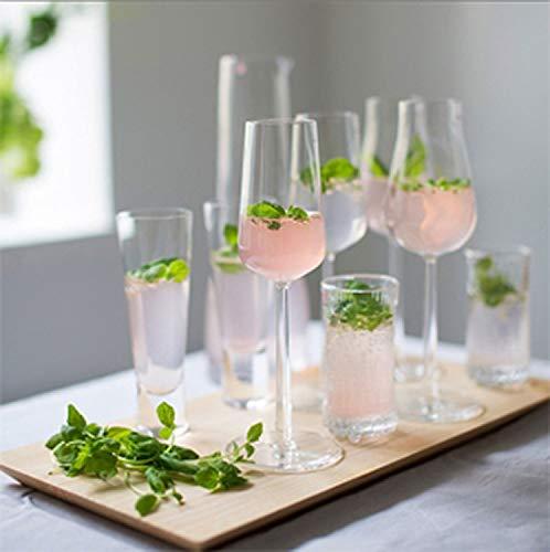 一口にワイングラスと言っても、ワインの種類によって適したグラスをラインナップしているのがエッセンスシリーズの特徴。赤ワイン用は、白ワイン用より一回りカップが大きくなっています。他に、シャンパングラスやシェ、ステムのないタンブラーまであります。