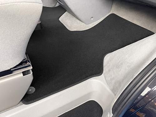 Carstyling Fußmatte passend für VW T4 2 Sitzer Schaltgetriebe Premium Velours ANTHRAZIT Nubuk-Band