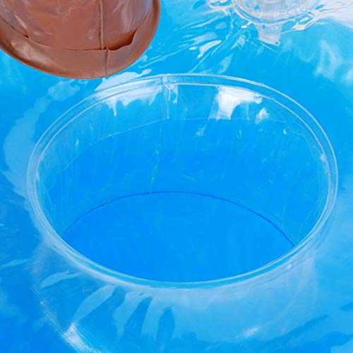 Sdfafrreg Portavasos Flotante, Posavasos Inflable, inflado por Completo en 10 Segundos Plástico de PVC para Fiestas en la Piscina, Playa, baño, Juguetes de natación para niños