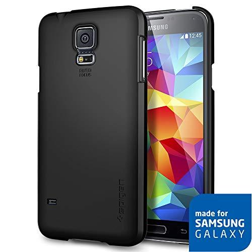 Spigen Ultra Fit Designed for Samsung Galaxy S5 Case (2014) - Smooth Black