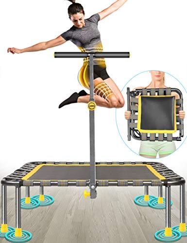 40' Cama Elástica MAX. Carga 220 Libras Silencioso Fácil Instalación Plegable Fitness Trampolin para Niños Adulto Exterior Jumping