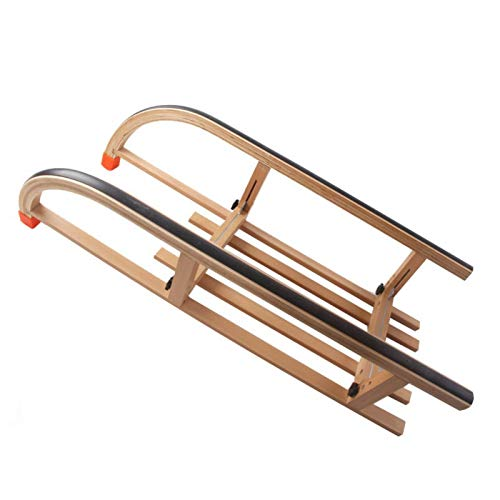 SchlittenSuper Tragende Klappbare Hölzerne Skiwagen Leicht Fahrbare Armbrust Skaten Auto Import Log Ski Board Tragbaren SchlittenSchneeeis SpielenKinder