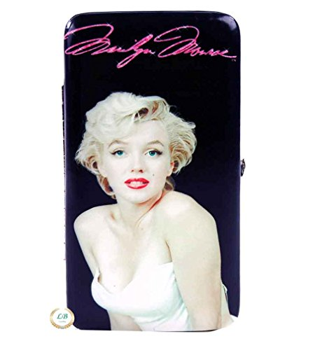 Marilyn Monroe Flat Wallet with Hinge Closure, White Dress