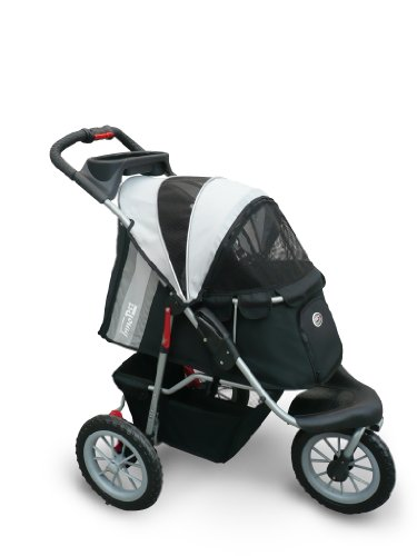 Pet Stroller,IPS-070, Black/Silver, Dog Carrier, Trolley, Innopet, Comfort...
