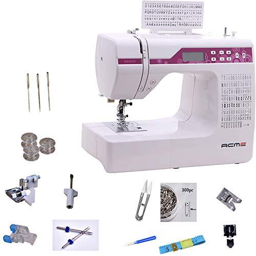 Electronic naaimachine, draagbare computergestuurde naaimachine met 200 steken 8 knoopsgaten en voetpedaal, verstelbare Multi-Speed huishoudnaaimachine Tool