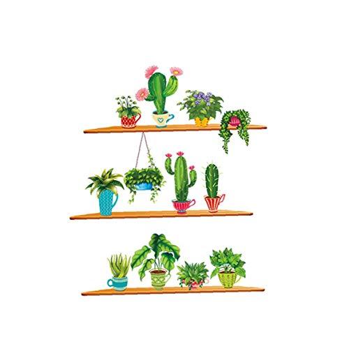 90 * 30 * 2cm Cactus Kreative Aufkleber Removable Grünpflanzen Wandaufkleber Wandaufkleber Cartoon Wandtapeten DIY Poster Kunst-Wand-Abziehbilder für Zimmer Dekoration- Möbel decorationfor Convenience