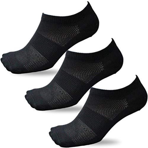 (BC713) 靴下 メンズ 先丸 竹で消臭&綿で通気性バツグン ショート メッシュ 軍足 黒 3足組 作業にぴったり 24.5~27cm