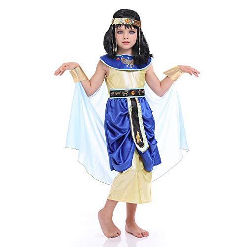 Avsvcb Cosplay Disfraz de Navidad para niños Princesa árabe Estatua de la Libertad Regalo novedoso de Halloween Disfraz de Reina egipcia Antigua Reina Griega