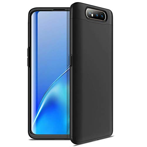 MUTOUREN Compatible avec Samsung Galaxay A80 Coque, PC Coquille Dure 360 degrés Protection/3 in 1 Anti-Choc/Anti-Rayure/Étui Samsung Galaxay A80-Noir