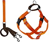 2 Hounds Design Freedom No Pull Dog Harness | Adjustable Gentle Comfortable Control for Easy Dog Walking |for Small Medium and Large Dogs | Made in USA | Leash Included | 1' LG Rust