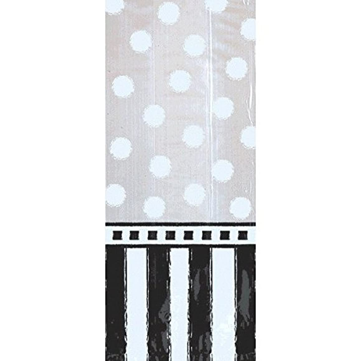 Amscan 370245 Fancy Black & White Black and White Cello Bags, 9 1/2