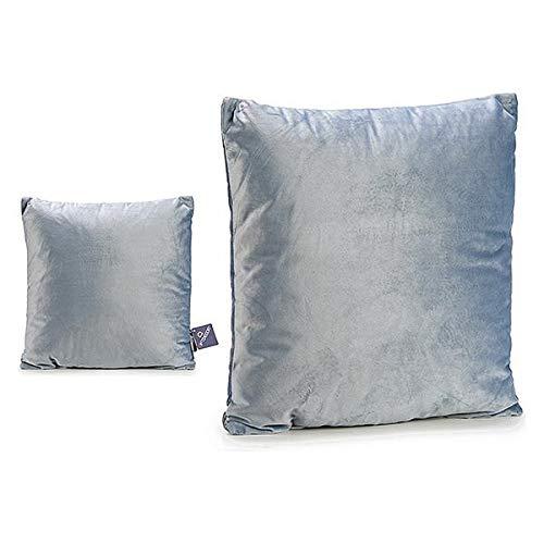 TU TENDENCIA ÚNICA Cojín Decorativo de Terciopelo. Medidas: 45x45 cm. Ideal para Decorar el Sofá o la Cama (Gris)