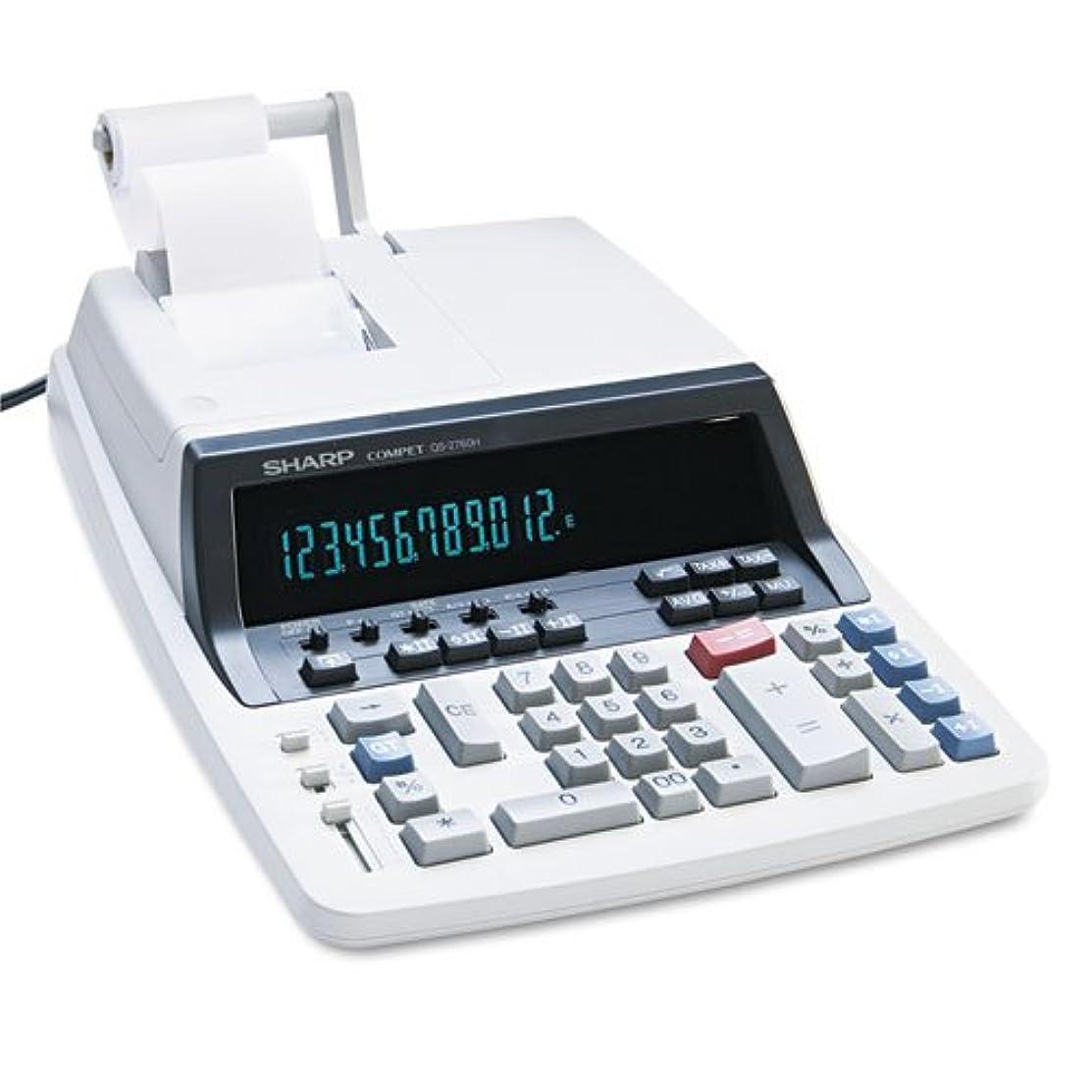 オーバーヘッドおとなしい教えshrqs2760h?–?qs-2760h 2色リボン印刷電卓