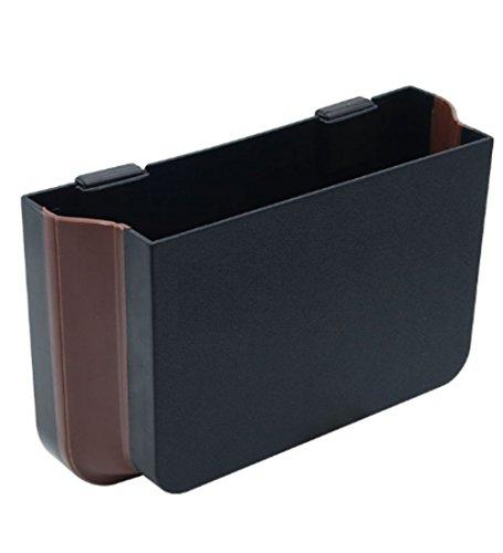 XSAJU 車用収納ボックス 折りたたみポケット 小物 ゴミ入れ カーシートの裏に簡単取り付け (ブラック)