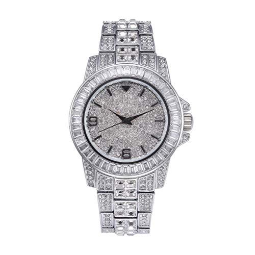 Relojes de hip hop para Hombres/Mujeres Relojes Con Diamantes Diamantes Bling Reloj de pulsera de lujo