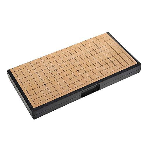 Samfox Weiqi Set, Magnetic Zusammenklappbarer Schachbrett Weiqi Educational Games Go-Spiel Reiseset