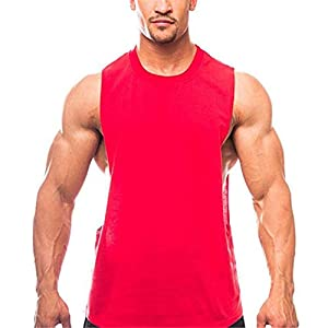 ZYUD Men's Vest Sleeveless Fitness Stringers Bodybuilding Clothing Cotton T-Shirts Running Workout Training Men's Workout Vest Hooded Gym Fitness Tank Top Training Muscle Sleeveless Tops