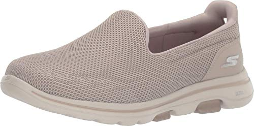 Skechers Women's GO Walk 5-15901 Sneaker, Taupe, 8 W US