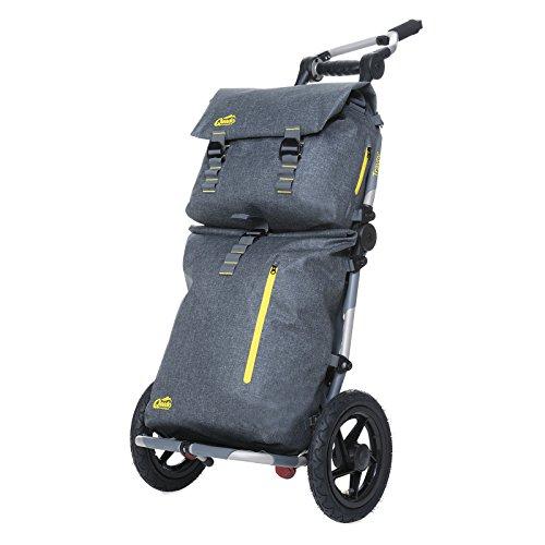 Burley Travoy Fahrrad Lastenanhänger und Einkaufs-Trolley (inkl. Kupplung) und Qeedo Dry Carrier Bags