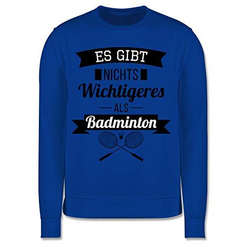 Sport Kind - Es gibt Nichts Wichtigeres als Badminton - 104 (3/4 Jahre) - Royalblau - Badminton Pullover - JH030K - Kinder Pullover