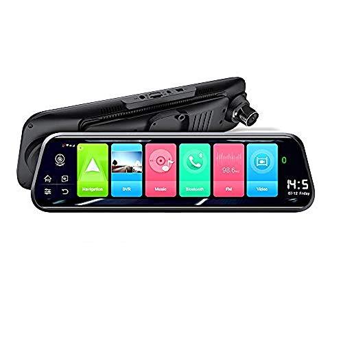 SZYLHT Dual Dashcam 10 Zoll, Dashcam Auto Bluetooth 4G Spiegel Auto DVR Dashcam Vorne 1080P Hinten 1080P Android 8.1 140 ° Winkel WiFi Und GPS Navigation 2 + 16 GB ADAS LDWS/FCWS Anti Fog/Rain