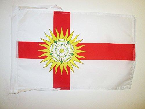 AZ FLAG Flagge GRAFSCHAFT West Riding of Yorkshire 45x30cm mit Kordel - West Riding of Yorkshire Fahne 30 x 45 cm - flaggen Top Qualität