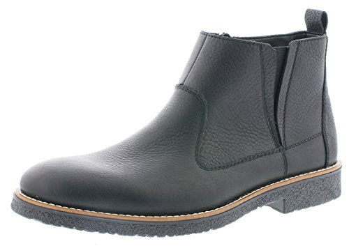 Rieker Herren Chelsea Boots 33660,Männer Stiefel,Halbstiefel,Stiefelette,Bootie,Schlupfstiefel,flach,schwarz/schwarz, EU 40