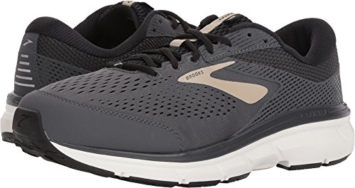 Brooks Men's Dyad 10 Grey/Black/Tan 11.5 EEEE US
