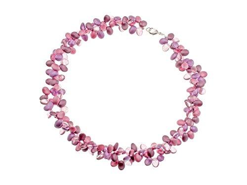 Creative-Beads Glasperlenkette, fröhliche Frühjahrs- u. Sommerfarben, 43-48cm lang, rosa-violett