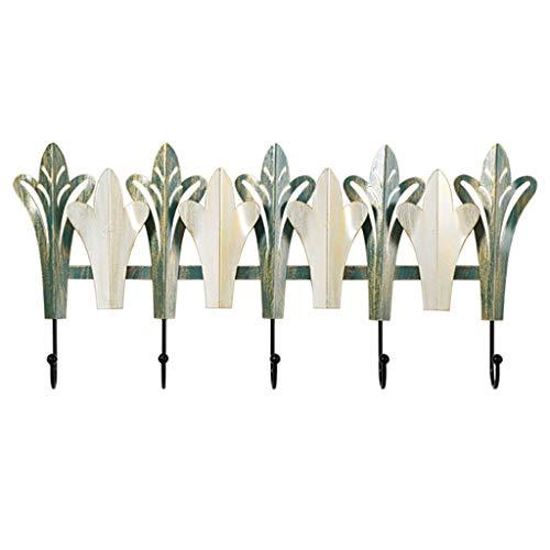 MaxTom Perchero de Hierro de Lujo Ligero Perchero de Sombrero Que Ahorra Espacio Simple Cuarto de baño Familiar Pasillo Estante Multiusos (Color : Green, Size : 59×1×28cm)